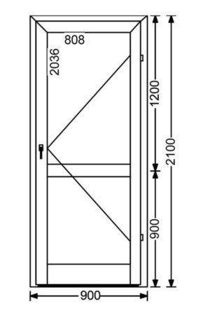 Холодная алюминиевая дверь A50 1.89 м.кв. от компании Комфорт-Сервис