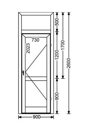 Холодная алюминиевая дверь A50 2.34 м.кв. от компании Комфорт-Сервис