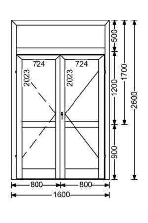 Холодная алюминиевая дверь A50 4.16 м.кв. от компании Комфорт-Сервис