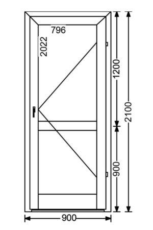 Теплая алюминиевая дверь A68 1.89 м.кв. от компании Комфорт-Сервис