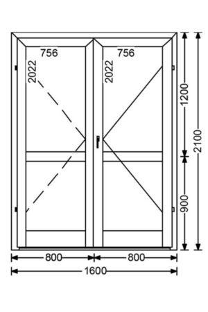 Теплая алюминиевая дверь A68 3.36 м.кв. от компании Комфорт-Сервис