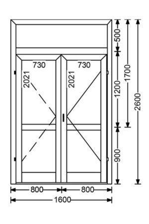 Теплая алюминиевая дверь A68 4.16 м.кв. от компании Комфорт-Сервис