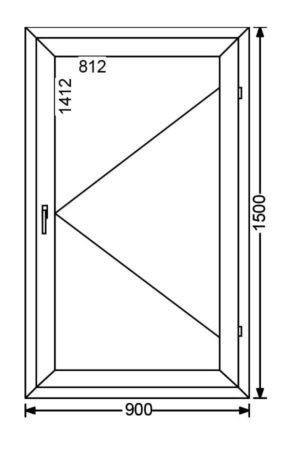 Одностворчатое алюминиевое окно с поворотной створкой A 68 от компании Комфорт-Сервис