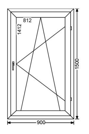 Одностворчатое алюминиевое окно с поворотно-откидной створкой A 68 от компании Комфорт-Сервис