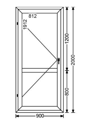 Дверь балконная алюминиевая A 68 от компании Комфорт-Сервис