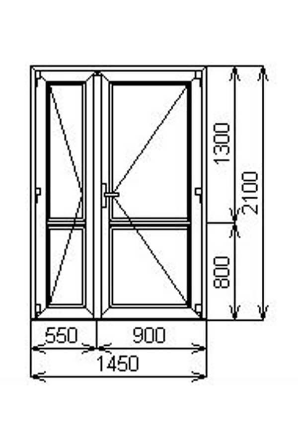Входная штульповая пластиковая дверь от компании Комфорт-Сервис