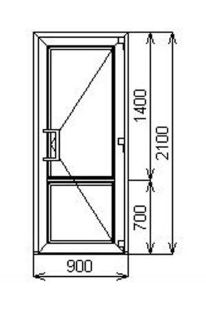 Входная одностворчатая пластиковая дверь от компании Комфорт-Сервис