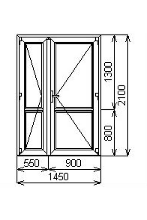 Межкомнатная штульповая двустворчатая дверь от компании Комфорт-Сервис