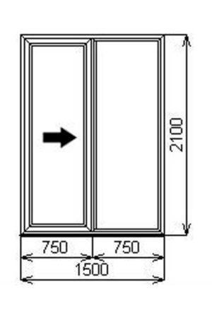 Двустворчатая портальная (раздвижная) ПВХ дверь